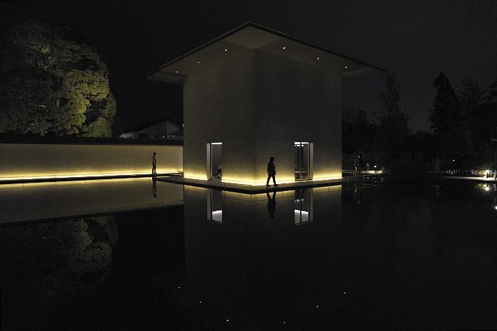 大拙館ライトアップ