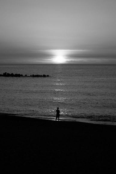 安宅の夕陽